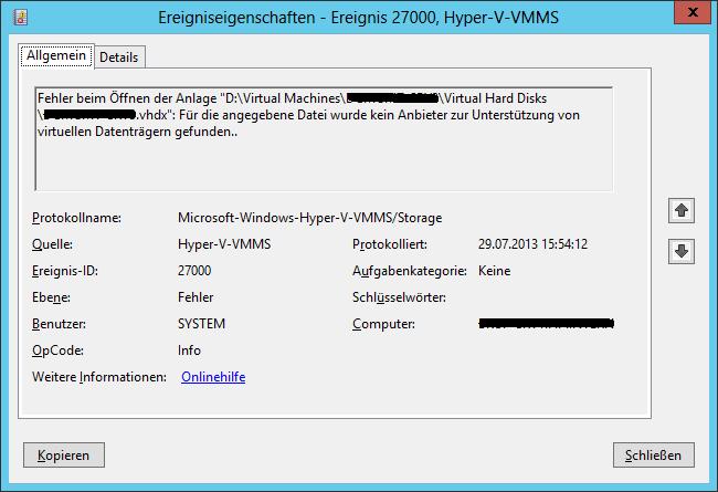 Hyper-V-VMMS 27000